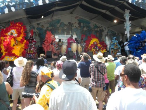 Chief Iron Horse & the Black Seminoles Mardi Gras Indians at the Jazz & Heritage stage