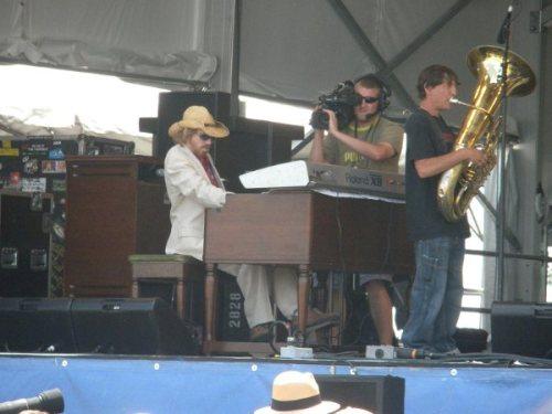 CR Gruver of Kirk Joseph's Backyard Groove @ Jazz Fest 2010