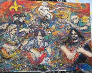 Widepread Panic - painting started and completed during the set.