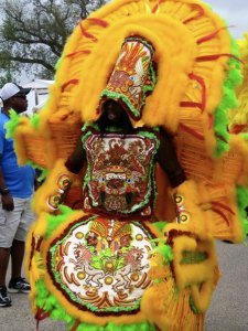 Mardi Gras Indian (Photo by Mica Lawson)