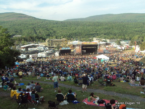 View from Art Installation @ Mountain Jam