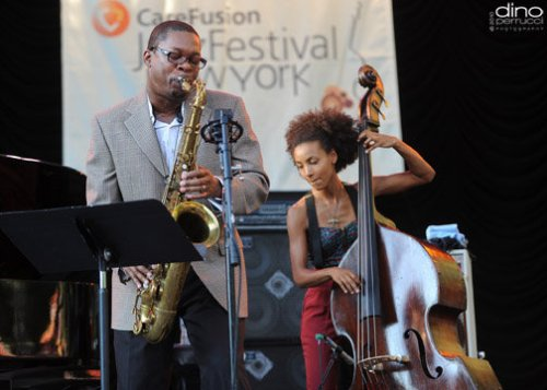 Ravi Coltrane and Esperanza Spalding (Photo by: Dino Perrucci)