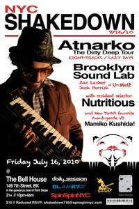 NYC Shakedown on July 16 @ The Bell House