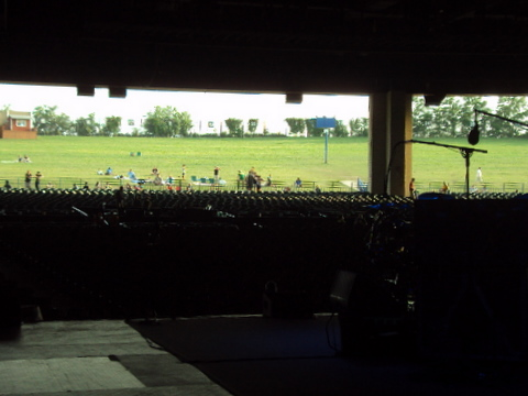 The lawn prior to the show!