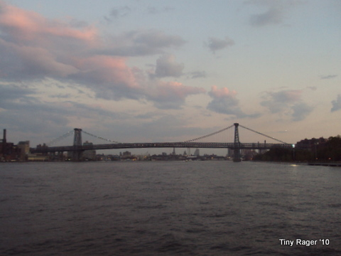 Took off down the East River