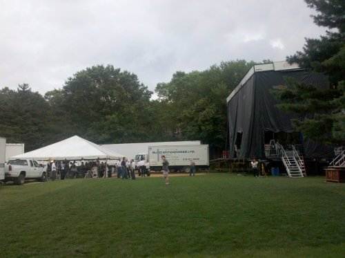 The happenings behind NY Phil stage...