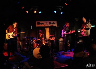 Robben Ford, Toss Panos, Andy Hess & John Scofield - The Blue Note, NYC 12110 (Photo by Dino Perrucci)