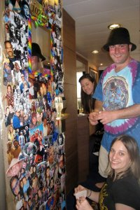 "Putting ""our"" door decor!! (Photo by Murray)"