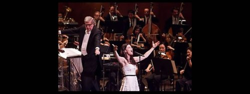 Idina Menzel and Marvin Hamlisch