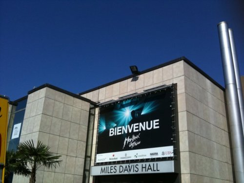 Front of Miles Davis Hall, attached to Auditorium Stravinsky