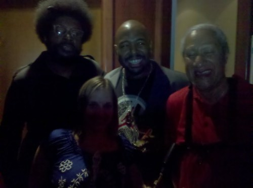Tiny Rager with Questlove, Christian McBride and Gary Bartz. SO HAPPY!!!