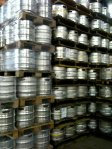 Kegs ready for the Festival.