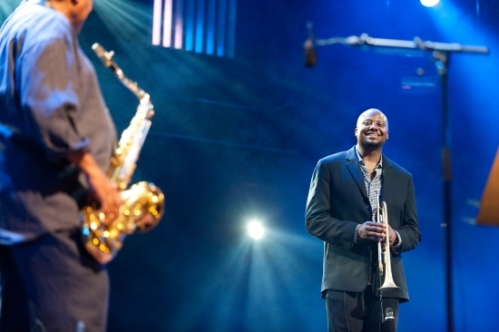 Sean Jones and Wayne Shorter (C) Lionel Flusin