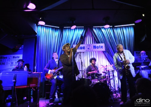 Whole Group raging The Blue Note (Photo by Dino Perrucci)