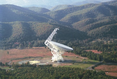 World's largest fully steerable single aperture antenna telescope (http://www.gb.nrao.edu/)