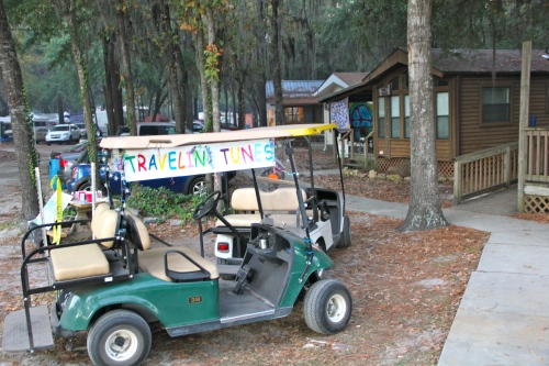 You can rent golf carts and cabins! ~ Pic by Josh Raskin