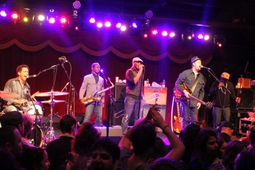 Alan Evans, Karl Denson, Big Sam, and Eric Krasno (Photo by Phrazz)