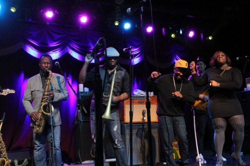 Karl Denson, Big Sam, Nigel Hall and Lenesha Randolph (Photo by Phrazz)