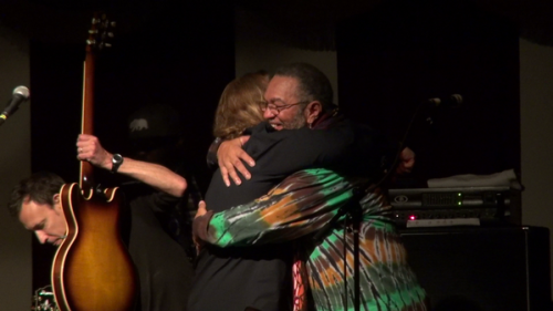 Warren Haynes and Porter embrace in musical friendship